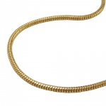Necklace, Round Snake Chain, Gold Plated