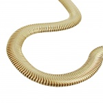 necklace, 6x2mm snake chain gold-plated