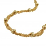 necklace, 50cm, 4mm balls, gold-plated