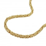 Necklace, 3mm, Byzantine Chain, Gold Plated