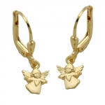 Leverback earring flying angel 9kt gold