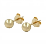 EARRINGS, BALLS 4MM, 9K GOLD