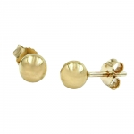Stud earrings, balls 5mm, 9K GOLD