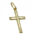 PENDANT, SMALL CROSS, 14KT GOLD
