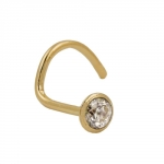 NOSE SCREW, ZIRCONIA, 18K GOLD