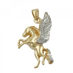 Pendant horse with wing 9k gold