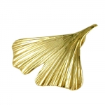 Pendant, Gingko Leaf, 20 mm, 9K Gold