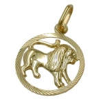 PENDANT, ZODIAC SIGN, LEO, 9K GOLD