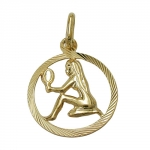 PENDANT, ZODIAC SIGN, VIRGO, 9K GOLD