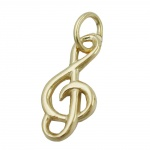 PENDANT, TREBLE CLEF, 14K GOLD