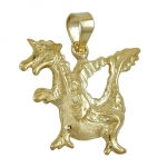 Pendant, fairytale dragon, 9K GOLD