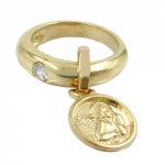 PENDANT, RING, BABY'S CHRISTENING, 9K GOLD