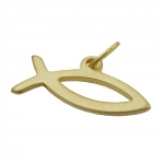 PENDANT, FISH, 8K GOLD