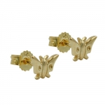 Stud earrings,  butterfly, 9KT GOLD