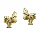 EARRINGS, ELK, 9K GOLD