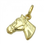 PENDANT, HORSE HEAD, 9K GOLD