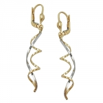 EARRINGS, LEVERBACK, 9K GOLD