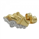 EARSTUD, SINGLE, TRUCK, 9K GOLD