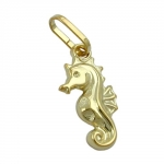 Pendant, Little Sea Horse, 9K Gold