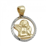 Pendant, Baby's Christening, Angel, Gold 9K