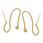 Earrings, Thin curb chain, 8K Gold - 431083