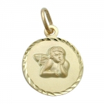 PENDANT, ANGEL, 9K GOLD