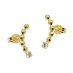 earring stud zirconia white 8K GOLD - 431365