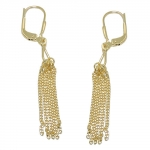 earrings, leverback, 5 chains, 8K GOLD
