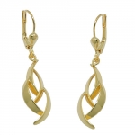 earring, leverback, polished, 8K GOLD - 431382
