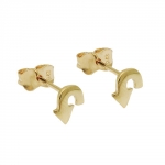 stud earrings, return arrow, 9K GOLD