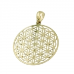 pendant, flower of life, shiny, 9K GOLD - 431462