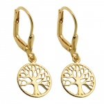 earrings, tree of life, 9K GOLD