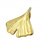 pendant ginkgo leaf 12mm, 9K GOLD