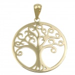 pendant tree of life polished 9K GOLD
