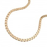 necklace, open curb 45cm, 14K GOLD