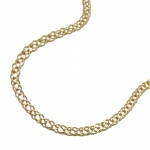 necklace 50cm twin curb chain 14K GOLD