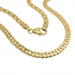 necklace 50cm, twin curb chain, 14K GOLD