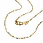 NECKLACE, MARINER CHAIN, 45CM, 14K GOLD