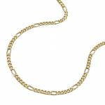 Necklace, Figaro Chain, 42cm, 9K Gold