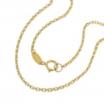 necklace, anchor chain, 45cm, 9K GOLD