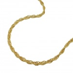 Necklace, Twisted Anchor Chain 14K Gold - 514000-45
