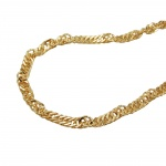 Necklace, Singapore Chain, 50cm, 9K Gold