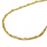 NECKLACE, SINGAPORE, 45CM CHAIN, 9K GOLD