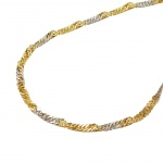 necklace, singapore, 50cm chain, 9K GOLD