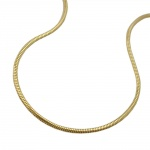 Snake chain, round 1mm, 9K GOLD