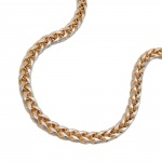 necklace, wheat chain 45cm, 14K GOLD