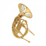 French horn, with crystal elements