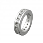 Pendant, Babtism Ring, CZ, Silver 925