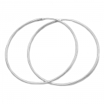 Hoop Earrings, 44mm, Silver 925