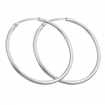 Earring, hoop, 32 mm, silver 925